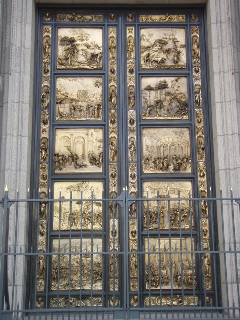 The Gates of Paradise - replicas of the doors installed in 1452 at the Cathedral of St. John in Florence by Lorenzo Ghiberti & Grace Cathedral
